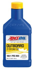 для 2-Такт лод.мот. AMSOIL Outboard Synthetic 100:1 Pre-Mix  2-Stroke Oil (0,946л)