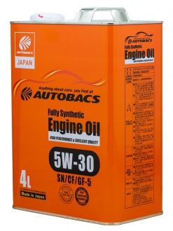 Масло моторное AUTOBACS ENGINE OIL SAE 5W30 API SN/CF FULLY SYNTHETIC