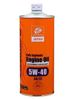 Масло моторное AUTOBACS ENGINE OIL SAE 5W40 API SN/GF FULLY SYNTHETIC