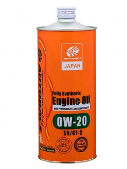 Масло моторное AUTOBACS ENGINE OIL SAE 0W20 API SN FULLY SYNTHETIC