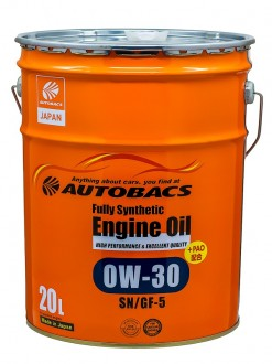 Масло моторное AUTOBACS ENGINE OIL SAE 0W30 API SN FULLY SYNTHETIC